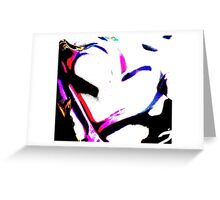 Abstract heart in pink & white Greeting Card