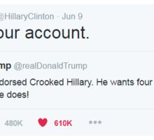 Delete your account. -Hillary Clinton Sticker