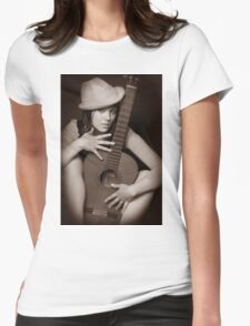 Girl & Guitar 3 Womens Fitted T-Shirt
