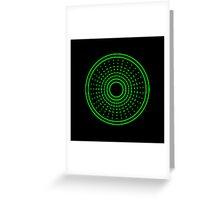 Green Aliens Alarm Greeting Card