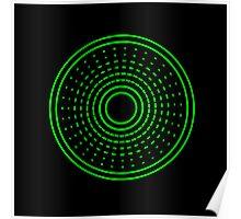 Green Aliens Alarm Poster