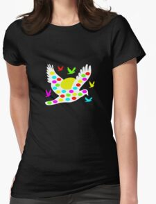 White Easter bird Womens Fitted T-Shirt