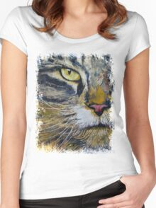 Norwegian Forest Cat Women's Fitted Scoop T-Shirt