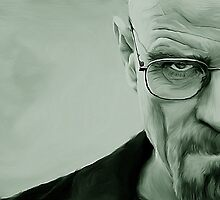 'The Danger' Handpainted Heisenberg Portrait (Green) by GarfunkelArt