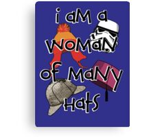 Woman of Many Hats Canvas Print