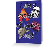 Woman of Many Hats Greeting Card