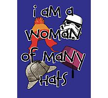 Woman of Many Hats Photographic Print