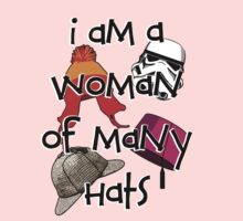Woman of Many Hats Kids Clothes