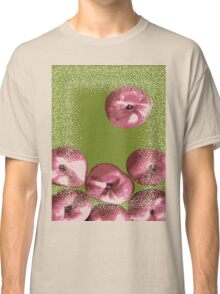 Peaches in green background Classic T-Shirt