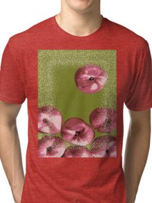 Peaches in green background Tri-blend T-Shirt