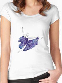 Watercolour Ballerina Women's Fitted Scoop T-Shirt