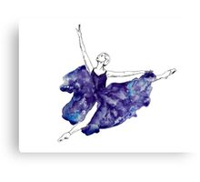 Watercolour Ballerina Canvas Print