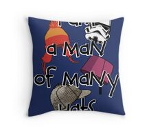 Man of Many Hats Throw Pillow