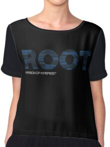 Root Typography [Black/Blue] Chiffon Top