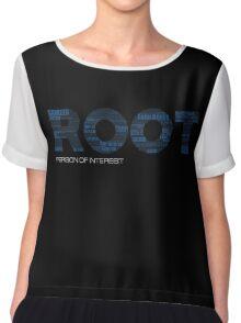 Root Typography [Black/Blue] Chiffon Top
