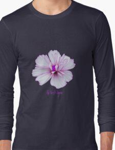 Pale pink flower power Long Sleeve T-Shirt
