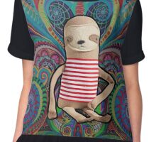 Trippy Sloth no. 1 Chiffon Top
