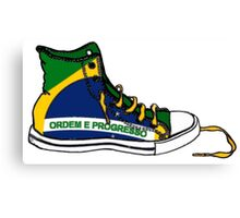 Basketball Shoe Brazil Brasil Canvas Print