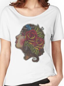 Gypsy Girl, Tattoo Style  Women's Relaxed Fit T-Shirt