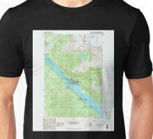 USGS TOPO Map Alaska AK Juneau B-2 SE 353680 1986 25000 Unisex T-Shirt