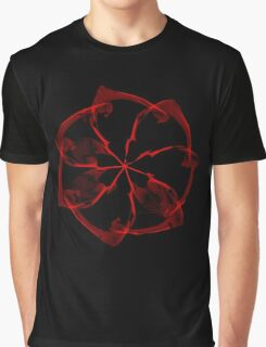 Ice Blood Flower Graphic T-Shirt