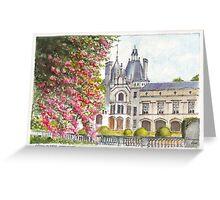 Château de Brézé in the Loire Valley of central France Greeting Card