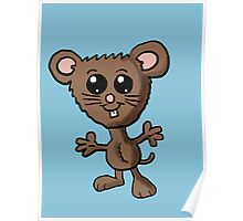 Cute Mouse Cartoon  Poster