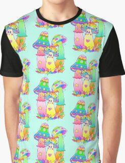 Colorful Mushroom Friends Graphic T-Shirt