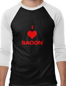 I heart bacon Men's Baseball ¾ T-Shirt