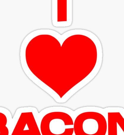 I heart bacon Sticker
