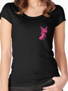 Angel in Pink Women's Fitted Scoop T-Shirt