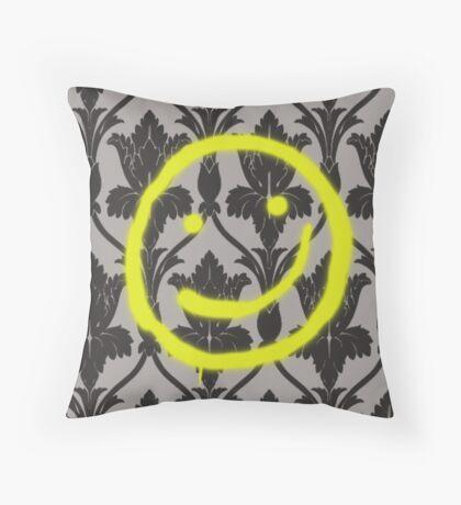 Sherlock Smile Throw Pillow
