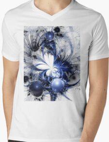 Blizzard - Abstract Fractal Artwork Mens V-Neck T-Shirt