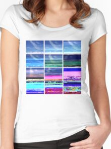 cloud glitch shirt Women's Fitted Scoop T-Shirt