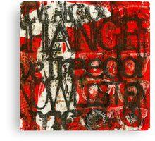 Weathering CHANGE (Monotype) Canvas Print