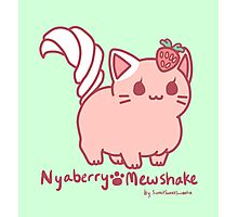 Sweet Treat Kitties - Nyaberry Mewshake Photographic Print