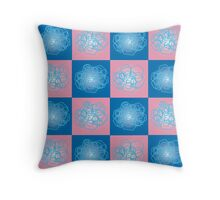 Abstraction in squares Throw Pillow