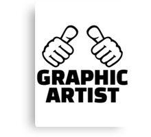 Graphic artist Canvas Print