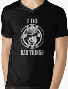 I Do Bad Things. Tommy Shelby. Peaky Blinders. Mens V-Neck T-Shirt