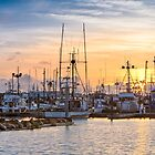Sunset at the Westport Marina by Jim Stiles