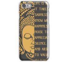 life is ironic buddha iPhone Case/Skin