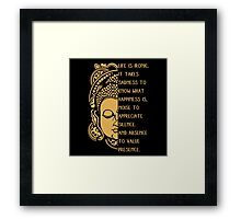 life is ironic buddha Framed Print