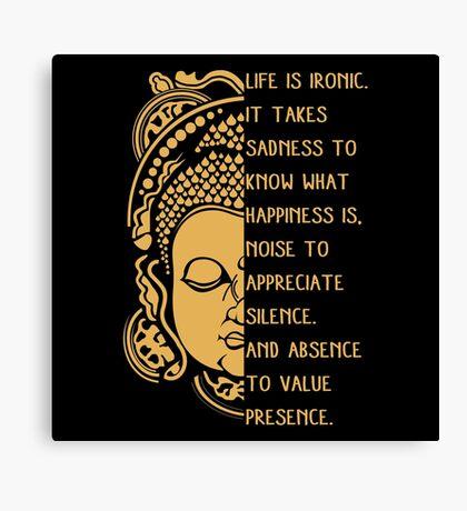 life is ironic buddha Canvas Print
