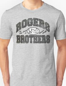 usa new york wood by rogers bros T-Shirt