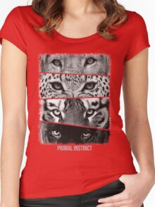Primal Instinct - version 4 - with text Women's Fitted Scoop T-Shirt