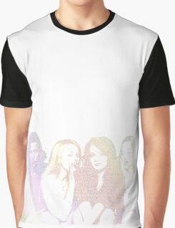 Mean Girls script (Rainbow) Graphic T-Shirt