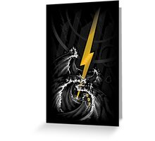 Electric Guitar Storm Greeting Card