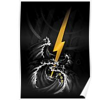 Electric Guitar Storm Poster