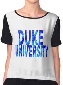 Duke University Chiffon Top