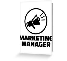 Marketing manager Greeting Card